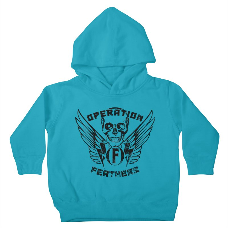 Operation Feathers Logo - Distressed Black Kids Toddler Pullover Hoody by The Evocative Workshop's SFX Art Studio Shop