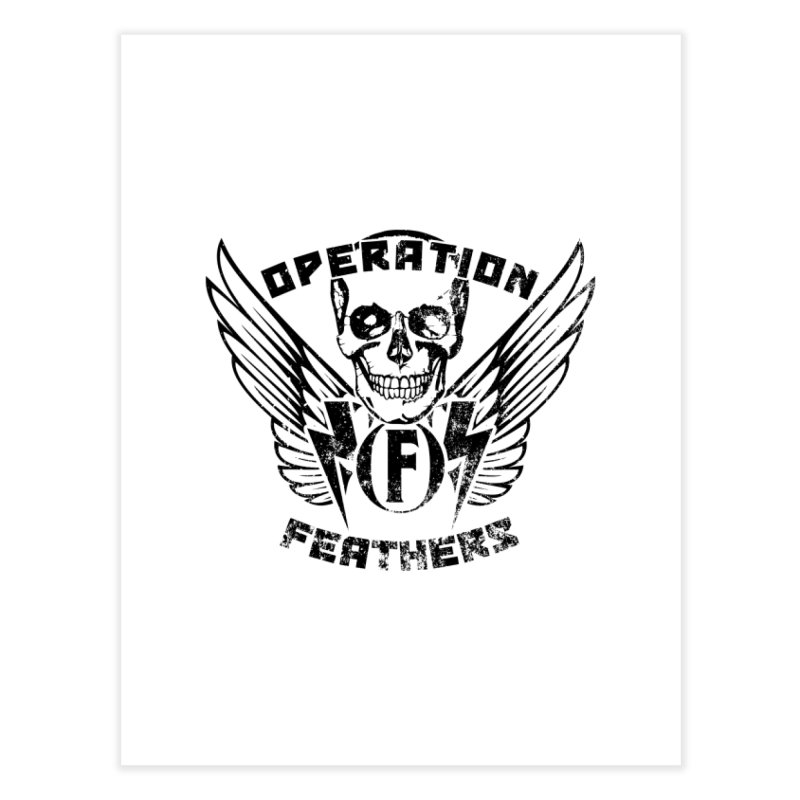Operation Feathers Logo - Distressed Black Home Fine Art Print by The Evocative Workshop's SFX Art Studio Shop