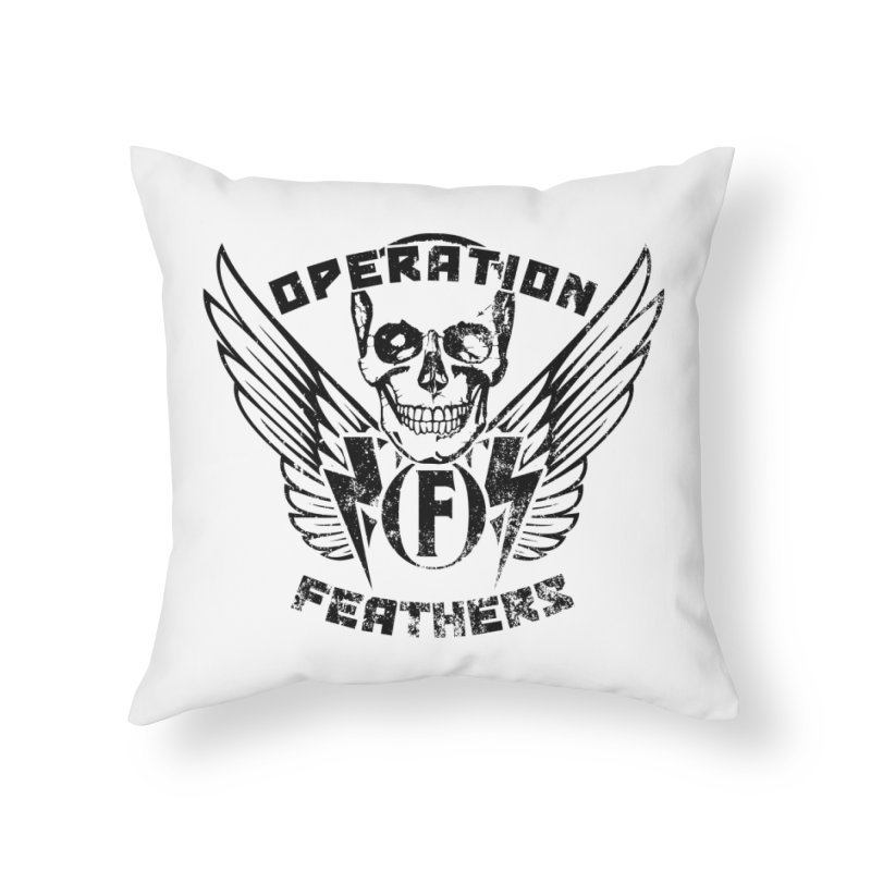 Operation Feathers Logo - Distressed Black Home Throw Pillow by The Evocative Workshop's SFX Art Studio Shop