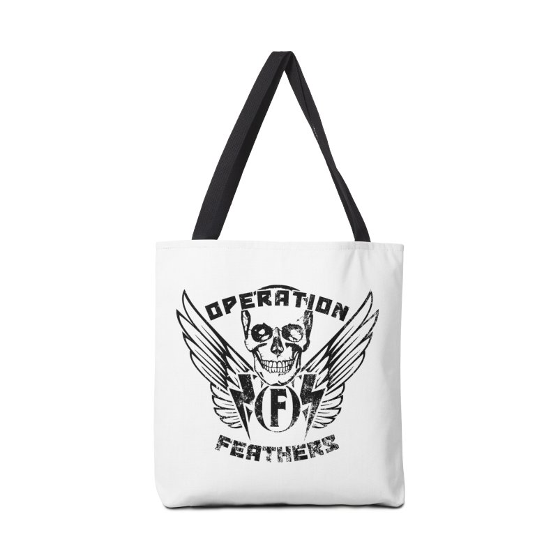 Operation Feathers Logo - Distressed Black Accessories Bag by The Evocative Workshop's SFX Art Studio Shop
