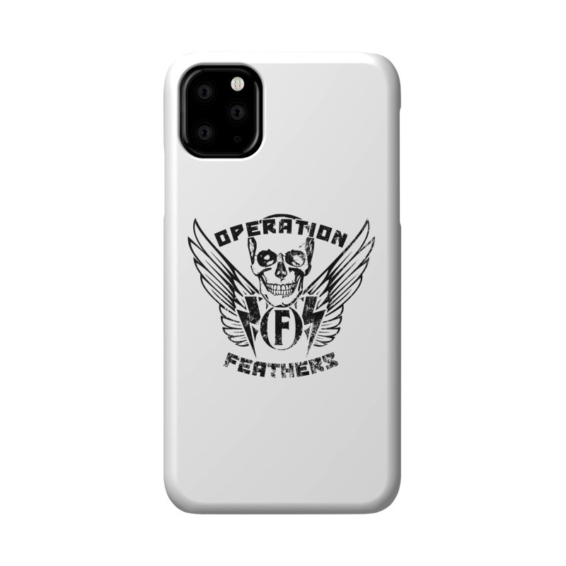 Operation Feathers Logo - Distressed Black Accessories Phone Case by The Evocative Workshop's SFX Art Studio Shop