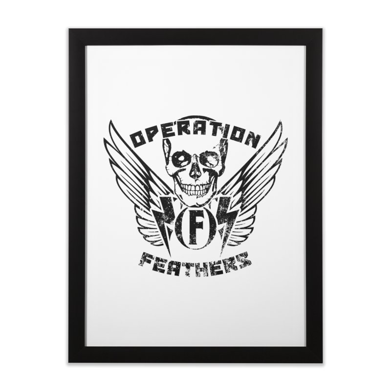Operation Feathers Logo - Distressed Black Home Framed Fine Art Print by The Evocative Workshop's SFX Art Studio Shop