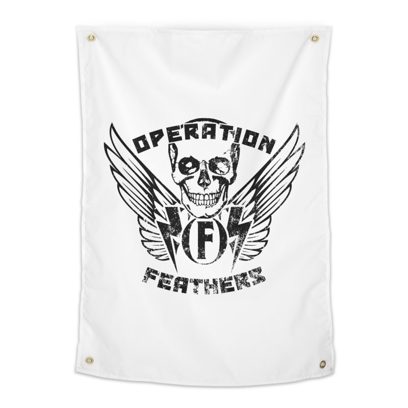 Operation Feathers Logo - Distressed Black Home Tapestry by The Evocative Workshop's SFX Art Studio Shop