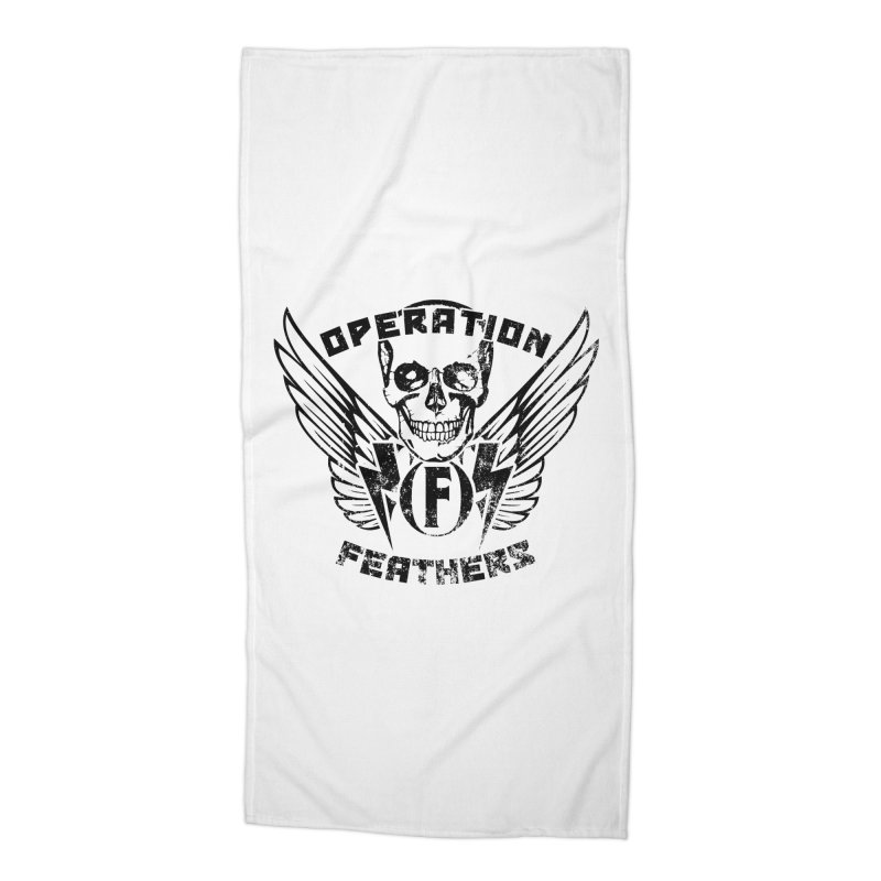 Operation Feathers Logo - Distressed Black Accessories Beach Towel by The Evocative Workshop's SFX Art Studio Shop