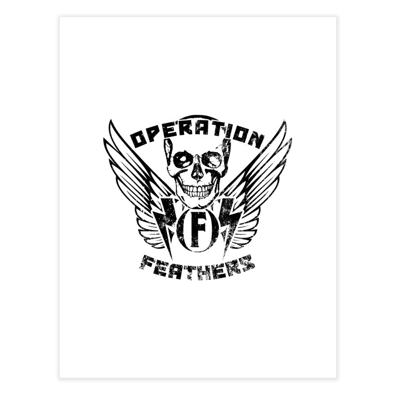 Operation Feathers Logo - Distressed Black Home Fine Art Print by The Evocative Workshop's SFX Art Studio Shop