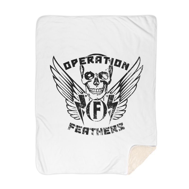 Operation Feathers Logo - Distressed Black Home Blanket by The Evocative Workshop's SFX Art Studio Shop