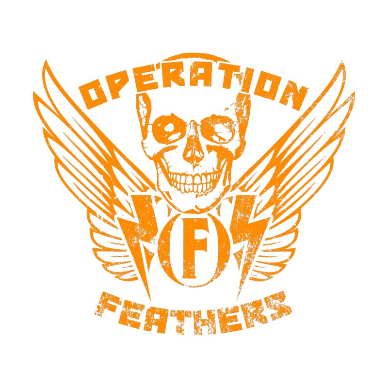 Operation Feathers Logo - Distressed Dark Orange on White Men's T-Shirt by The Evocative Workshop's SFX Art Studio Shop