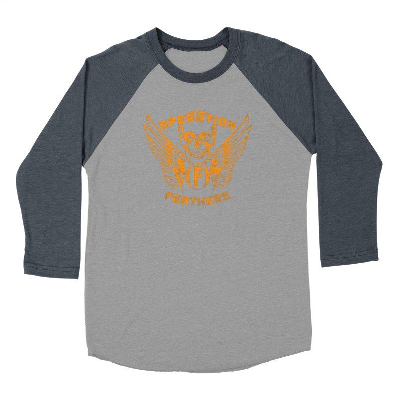 Operation Feathers Logo - Distressed Dark Orange on White Women's Longsleeve T-Shirt by The Evocative Workshop's SFX Art Studio Shop