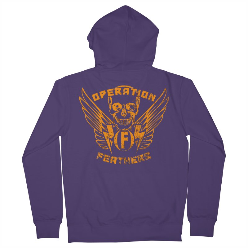 Operation Feathers Logo - Distressed Dark Orange on White Women's Zip-Up Hoody by The Evocative Workshop's SFX Art Studio Shop