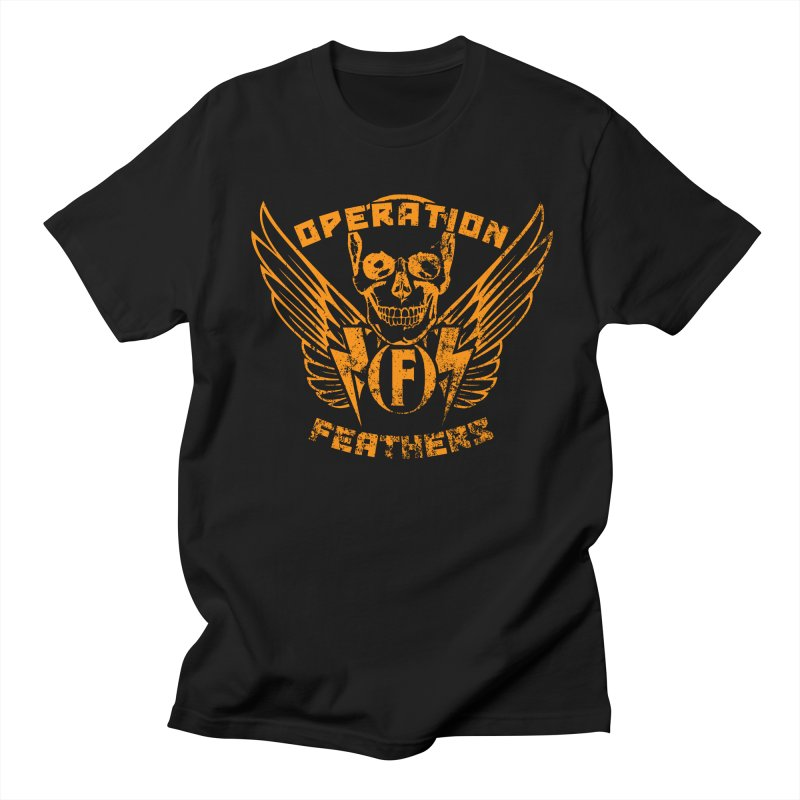 Operation Feathers Logo - Distressed Dark Orange on White Women's Regular Unisex T-Shirt by The Evocative Workshop's SFX Art Studio Shop