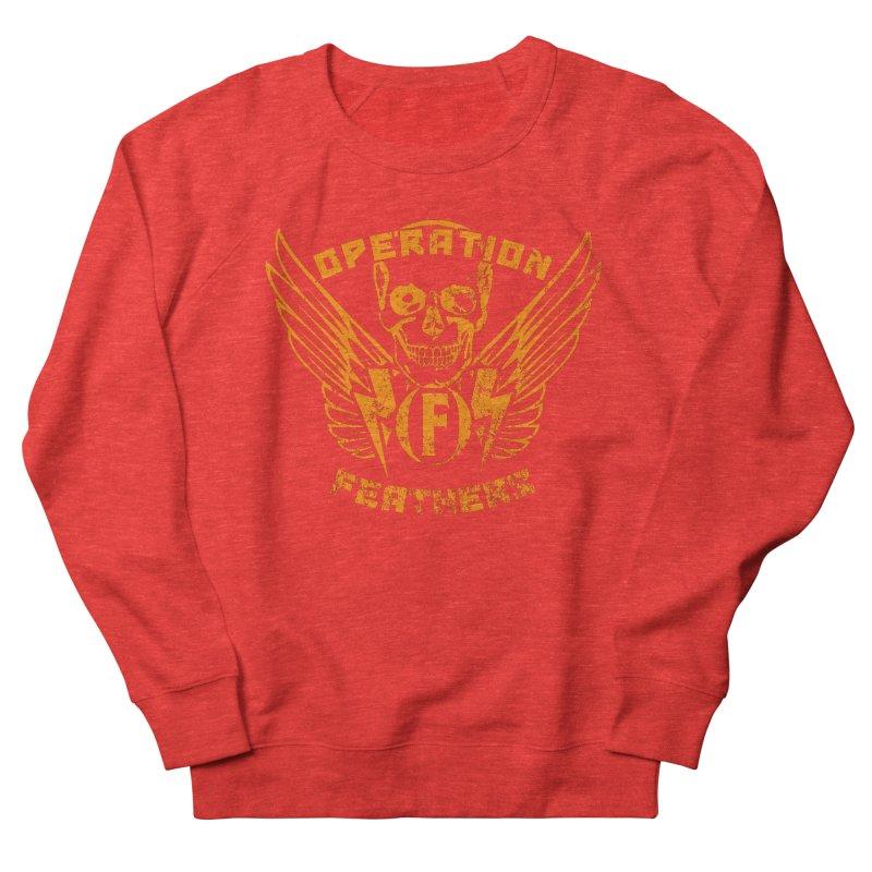 Operation Feathers Logo - Distressed Dark Orange on White Women's Sweatshirt by The Evocative Workshop's SFX Art Studio Shop