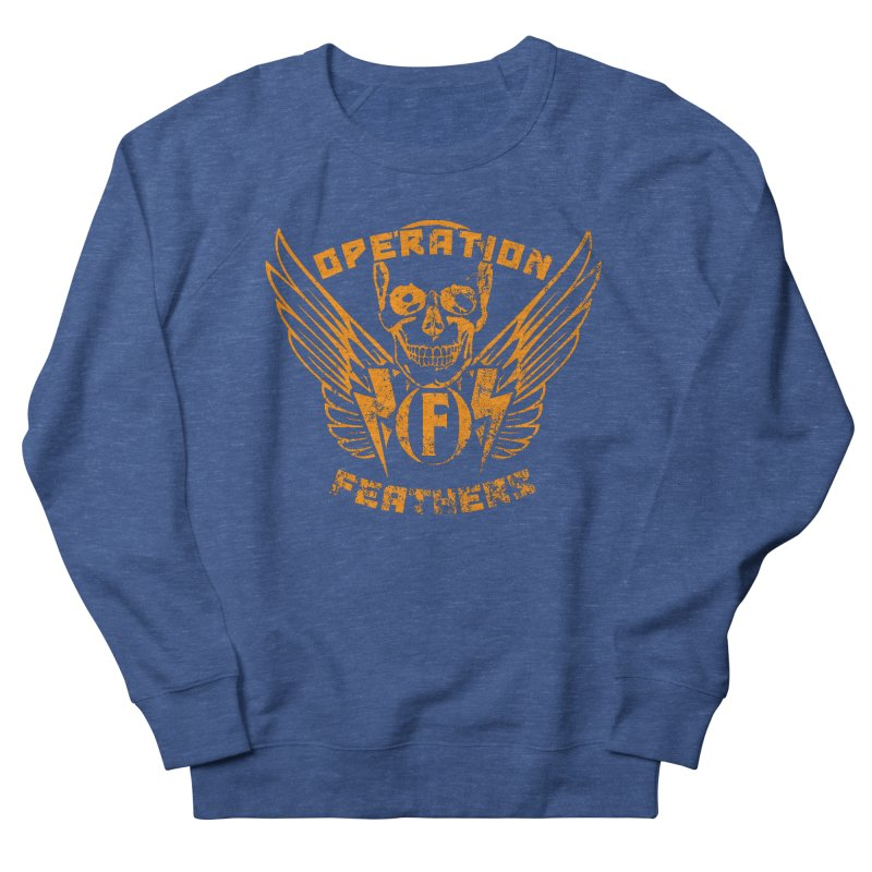 Operation Feathers Logo - Distressed Dark Orange on White Men's Sweatshirt by The Evocative Workshop's SFX Art Studio Shop