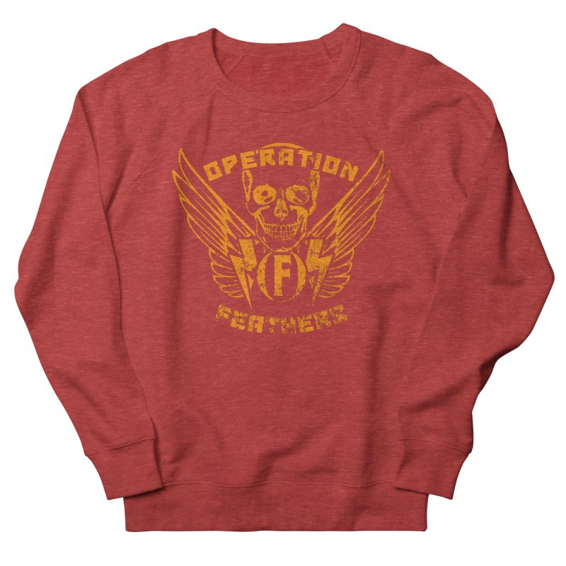 Operation Feathers Logo - Distressed Dark Orange on White Men's Sweatshirt by The Evocative Workshop's SFX Art Studio Shop