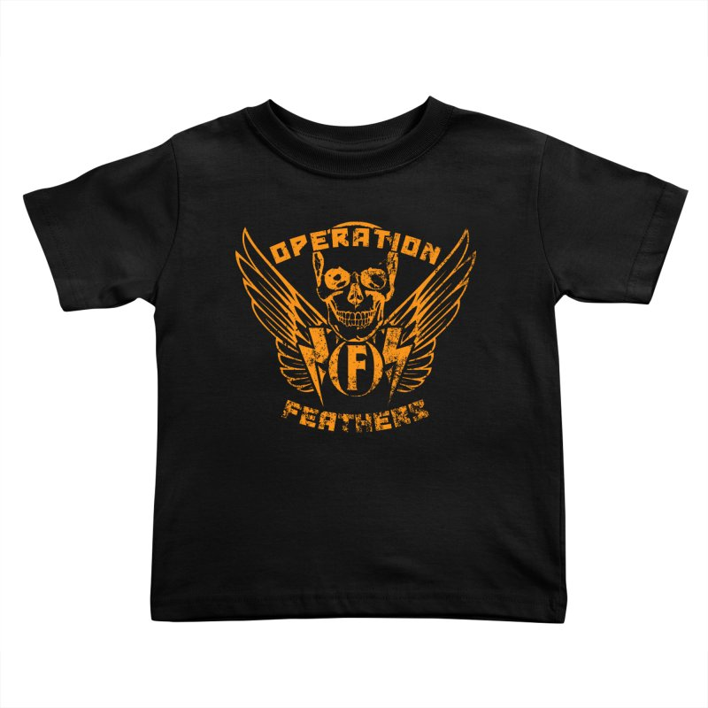 Operation Feathers Logo - Distressed Dark Orange on White Kids Toddler T-Shirt by The Evocative Workshop's SFX Art Studio Shop