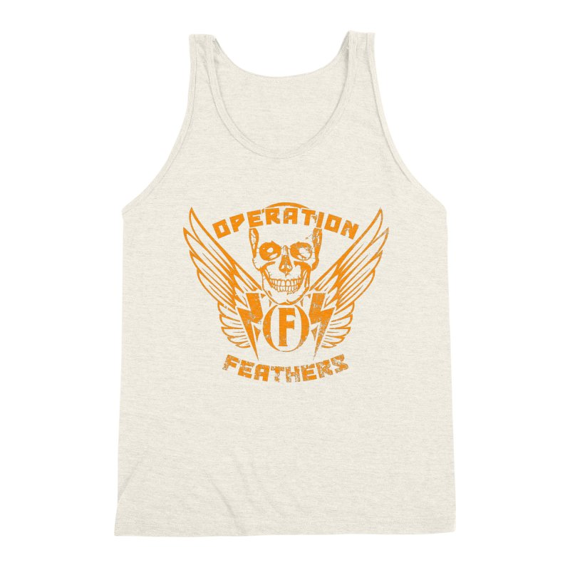 Operation Feathers Logo - Distressed Dark Orange on White Men's Tank by The Evocative Workshop's SFX Art Studio Shop