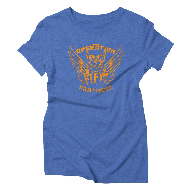 Operation Feathers Logo - Distressed Dark Orange on White Women's T-Shirt by The Evocative Workshop's SFX Art Studio Shop