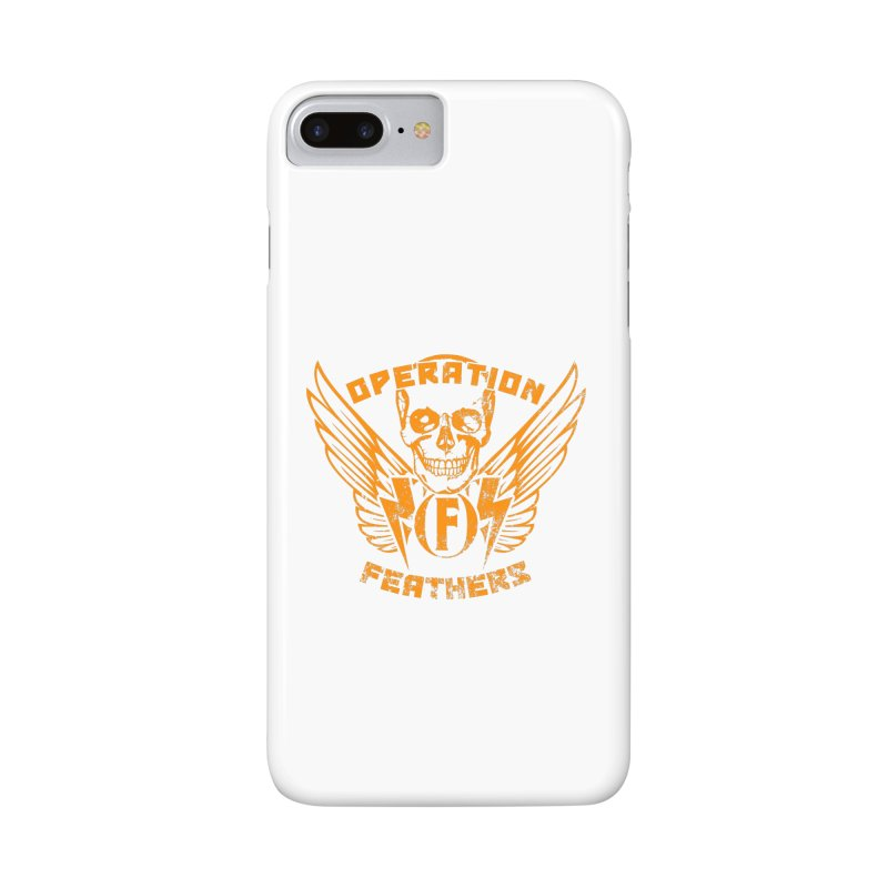 Operation Feathers Logo - Distressed Dark Orange on White Accessories Phone Case by The Evocative Workshop's SFX Art Studio Shop