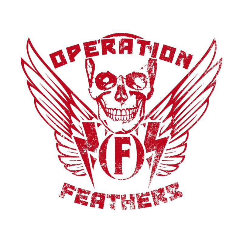 Operation Feathers Logo - Distressed Blood Red Men's V-Neck by The Evocative Workshop's SFX Art Studio Shop