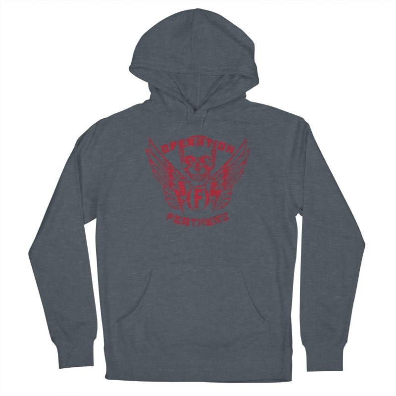 Operation Feathers Logo - Distressed Blood Red Men's French Terry Pullover Hoody by The Evocative Workshop's SFX Art Studio Shop