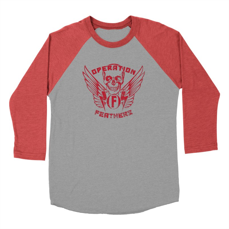 Operation Feathers Logo - Distressed Blood Red Men's Longsleeve T-Shirt by The Evocative Workshop's SFX Art Studio Shop