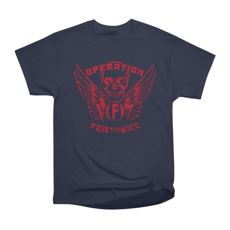 Operation Feathers Logo - Distressed Blood Red Men's T-Shirt by The Evocative Workshop's SFX Art Studio Shop