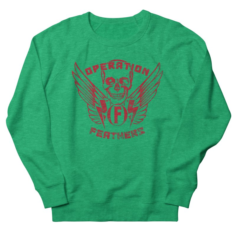 Operation Feathers Logo - Distressed Blood Red Women's Sweatshirt by The Evocative Workshop's SFX Art Studio Shop