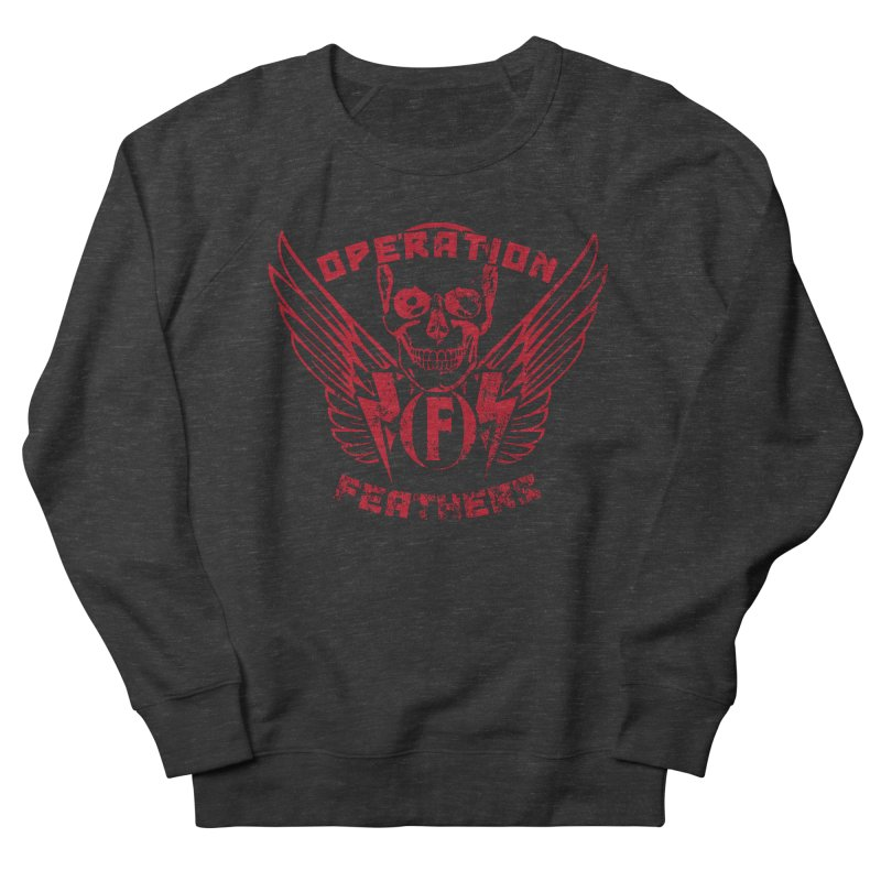Operation Feathers Logo - Distressed Blood Red Men's Sweatshirt by The Evocative Workshop's SFX Art Studio Shop