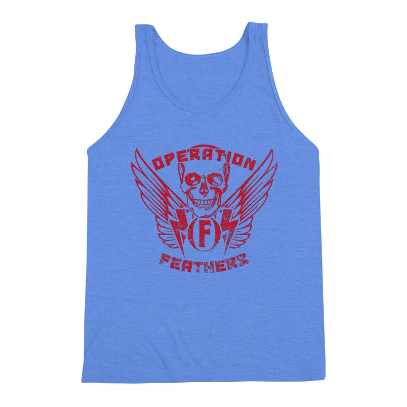 Operation Feathers Logo - Distressed Blood Red Men's Tank by The Evocative Workshop's SFX Art Studio Shop
