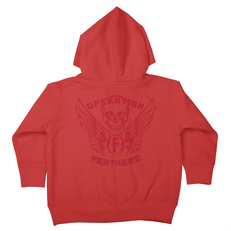 Operation Feathers Logo - Distressed Blood Red Kids Toddler Zip-Up Hoody by The Evocative Workshop's SFX Art Studio Shop