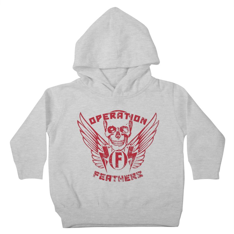 Operation Feathers Logo - Distressed Blood Red Kids Toddler Pullover Hoody by The Evocative Workshop's SFX Art Studio Shop