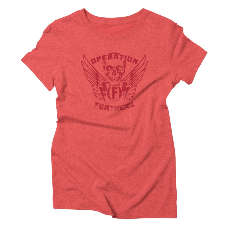 Operation Feathers Logo - Distressed Blood Red Women's T-Shirt by The Evocative Workshop's SFX Art Studio Shop