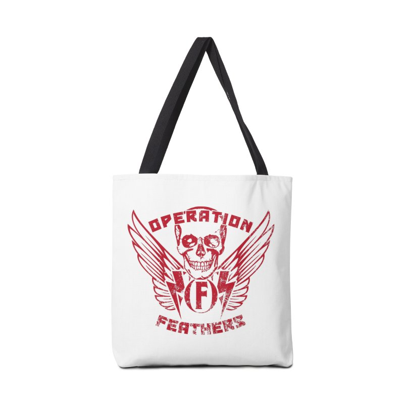 Operation Feathers Logo - Distressed Blood Red Accessories Bag by The Evocative Workshop's SFX Art Studio Shop