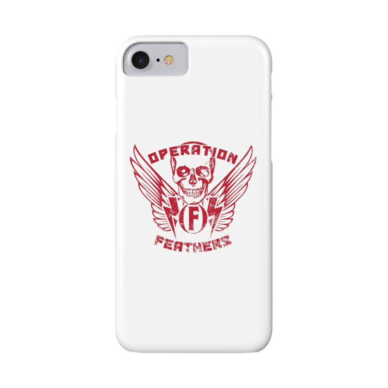 Operation Feathers Logo - Distressed Blood Red Accessories Phone Case by The Evocative Workshop's SFX Art Studio Shop
