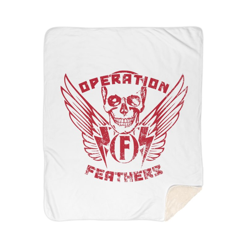 Operation Feathers Logo - Distressed Blood Red Home Blanket by The Evocative Workshop's SFX Art Studio Shop