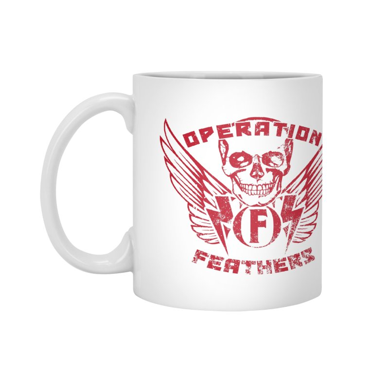 Operation Feathers Logo - Distressed Blood Red Accessories Mug by The Evocative Workshop's SFX Art Studio Shop