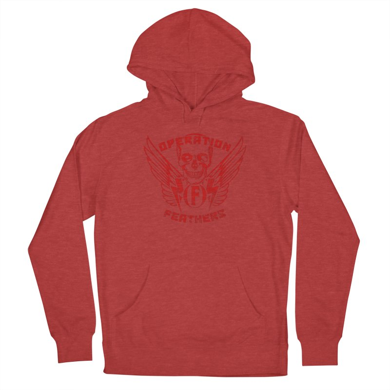 Operation Feathers Logo - Distressed Dark Red on Black Men's Pullover Hoody by The Evocative Workshop's SFX Art Studio Shop
