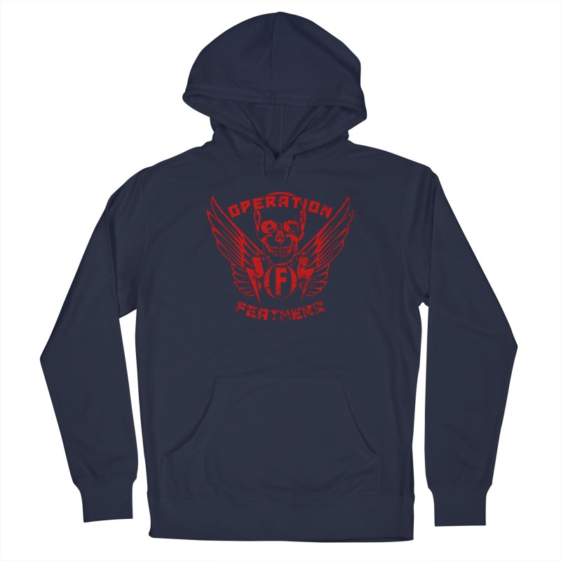 Operation Feathers Logo - Distressed Dark Red on Black Women's Pullover Hoody by The Evocative Workshop's SFX Art Studio Shop