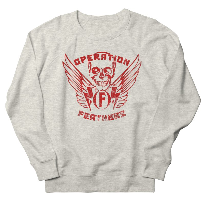Operation Feathers Logo - Distressed Dark Red on Black Men's Sweatshirt by The Evocative Workshop's SFX Art Studio Shop