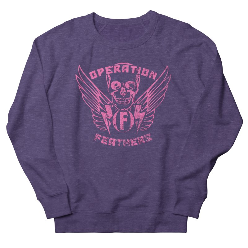 Operation Feathers Logo - Distressed Hot Pink on Dark Grey Women's Sweatshirt by The Evocative Workshop's SFX Art Studio Shop