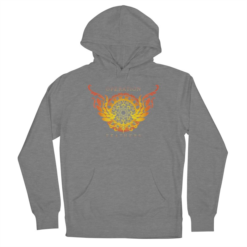 O.F. Mandala of Power - Orange Sunburst Men's Pullover Hoody by The Evocative Workshop's SFX Art Studio Shop