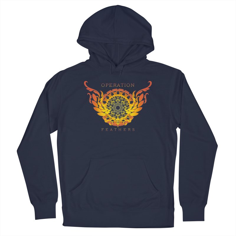 O.F. Mandala of Power - Orange Sunburst Men's Pullover Hoody by The Evocative Workshop's SFX Art Studio Shop