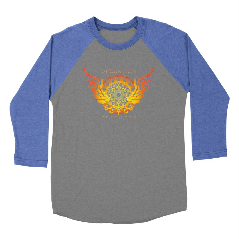 O.F. Mandala of Power - Orange Sunburst Women's Baseball Triblend Longsleeve T-Shirt by The Evocative Workshop's SFX Art Studio Shop