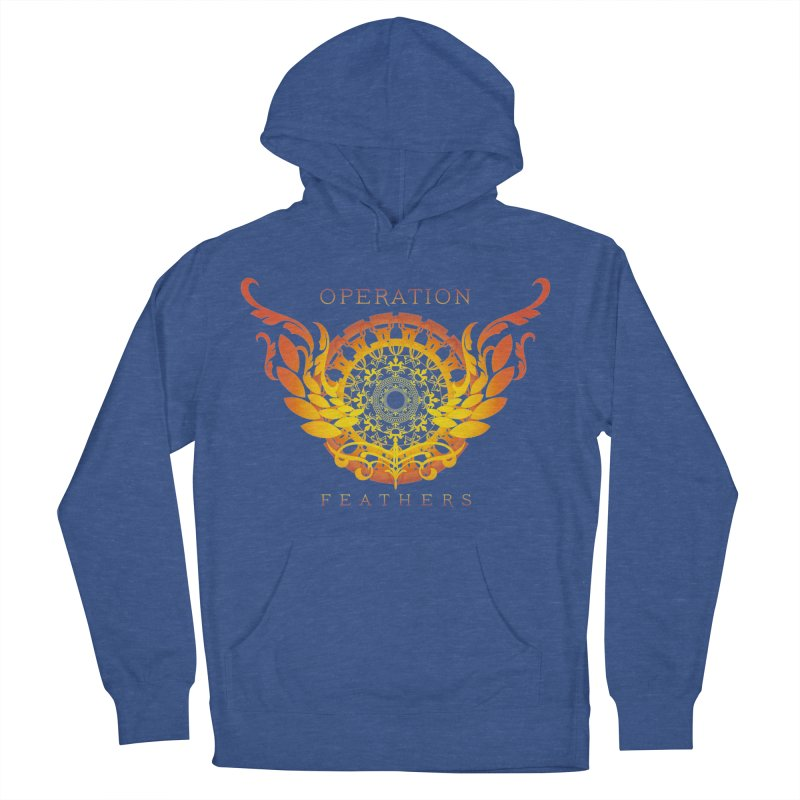 O.F. Mandala of Power - Orange Sunburst Women's French Terry Pullover Hoody by The Evocative Workshop's SFX Art Studio Shop