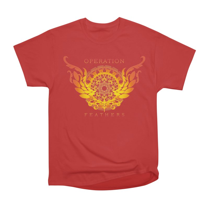O.F. Mandala of Power - Orange Sunburst Men's Heavyweight T-Shirt by The Evocative Workshop's SFX Art Studio Shop