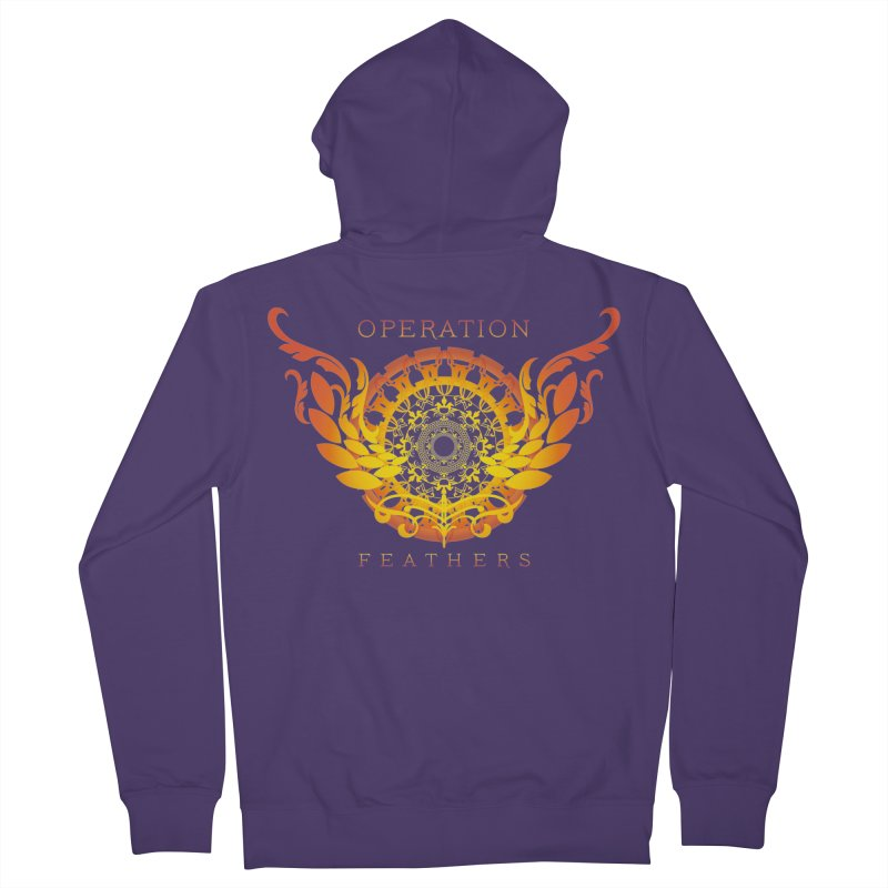 O.F. Mandala of Power - Orange Sunburst Women's Zip-Up Hoody by The Evocative Workshop's SFX Art Studio Shop