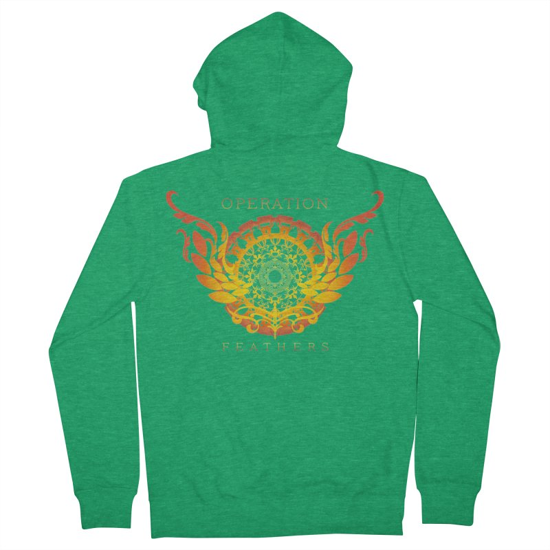 O.F. Mandala of Power - Orange Sunburst Men's Zip-Up Hoody by The Evocative Workshop's SFX Art Studio Shop