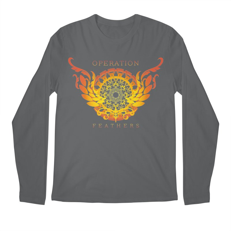 O.F. Mandala of Power - Orange Sunburst Men's Longsleeve T-Shirt by The Evocative Workshop's SFX Art Studio Shop
