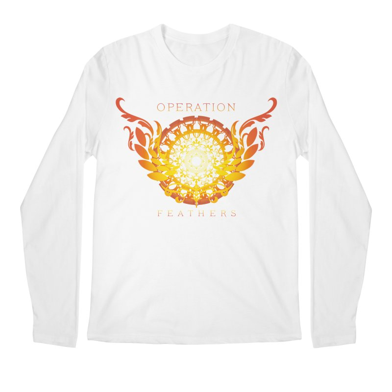 O.F. Mandala of Power - Orange Sunburst Men's Regular Longsleeve T-Shirt by The Evocative Workshop's SFX Art Studio Shop