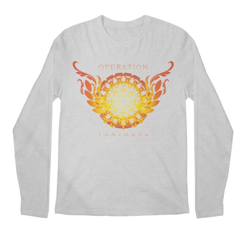 O.F. Mandala of Power - Orange Sunburst Men's Longsleeve T-Shirt by The Evocative Workshop's SFX Art Studio Shop