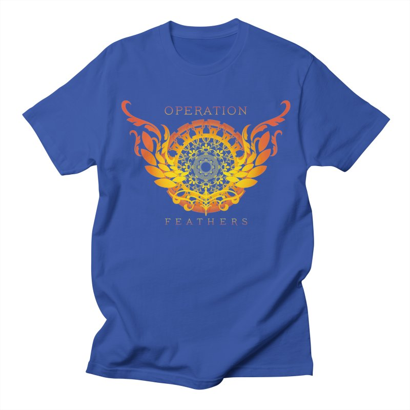O.F. Mandala of Power - Orange Sunburst Men's T-Shirt by The Evocative Workshop's SFX Art Studio Shop